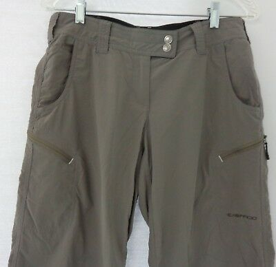 ExOfficio Womens Size 4 Gray Nomad Roll-Up Pants Convertible Water Resistant