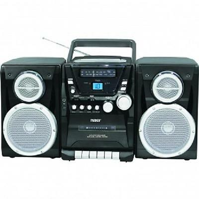 NAXA*Portable Boombox CD PLAYER*with AM/FM Stereo RADIO, Cassette Recorder,AC/DC