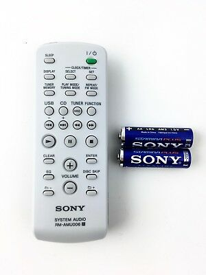 NEW SONY RM-AMU137 REMOTE CONTROL W// SONY STAMINA PLUS BATTERIES $4.95 VALUE