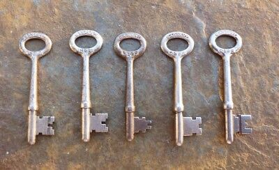 5 Assorted Sargent Antique Mortise Lock Skeleton Keys Door Keys