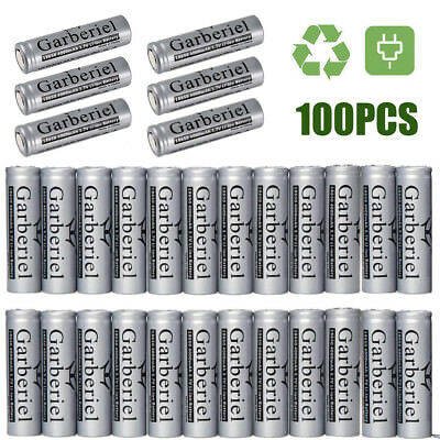 LOT Garberiel 4000mAh 3.7V 18650 Rechargeable Li-ion Flat Top Battery Flat Head