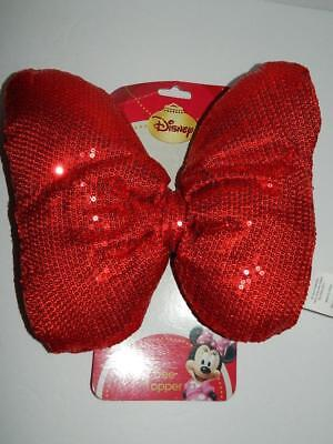 "Minnie Mouse Red Bow Tree Topper Costume Accessory Xmas Valentines Day 8"" New"
