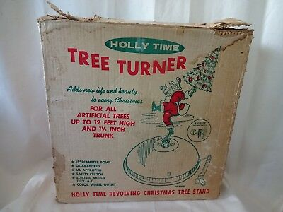 "Vintage Holly Time Tree Tuner W/ Color Wheel Outlet 15"" Diameter EUC WORKS W/Box"