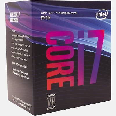 Intel Core i7-8700 Coffee Lake Processor 3.2GHz 8.0GT/s 12MB LGA 1151 CPU,