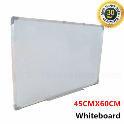 Magnetic White Board 45x60cm Portable Whiteboard Aluminium Frame Home Off46x60cm