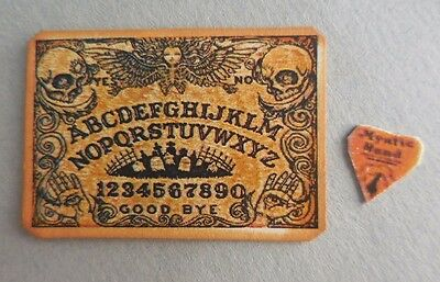Dollhouse Miniature ~ Halloween Skull Theme Ouija Board Set