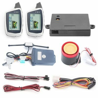 Easyguard 2 Way Motorcycle Alarm system with LCD pager microwave sensor dc12v