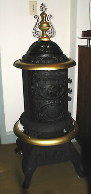 "RARE PARLOR STOVE JEWEL ""Live Oak"" No. 14 NICE Coal or Wood ! Fully Functioning"