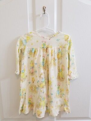 Vintage Toddler Girl Nightgown Lace Trim Size 2T 3T