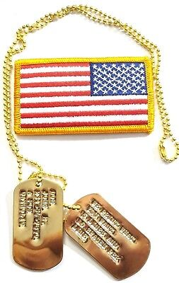 Custom Stamped Brass Special Forces Military Army Ranger Navy Seals ID Dog Tags
