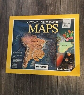 Maps National Geographic Maps: The Complete Collection (8 CD-rom Box Set) NEW