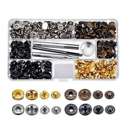 Hot Leather Craft Snap Fasteners Snap Buttons Buckles Press Studs Fixing Tools