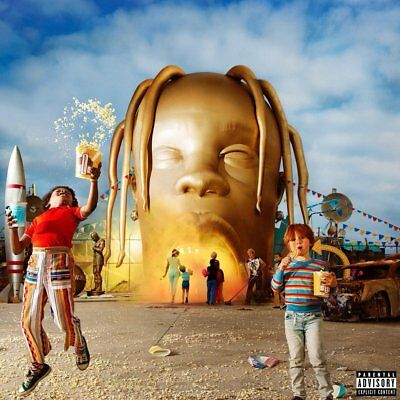 "Astroworld Travis Scott Poster Rap Album Cover Art Print 12x12"" 24x24"" 32x32"" #1"