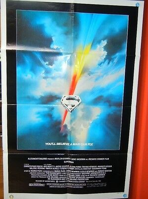 "Superman Original Movie Poster 27"" x 41"" 1 Sheet 1978 Christoper Reeves"