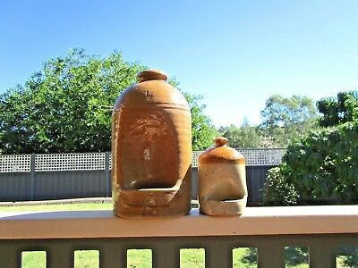 Very Old Australian Pottery Bird Feeder - Unusual Small  Size Feeder - Post $12