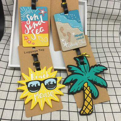 Summer Beach series Luggage Tag Travel Suitcase Bag Id Tags Address Label New
