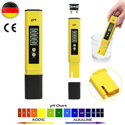 LCD Digital PH Wert Wasser Messgerät Messer Tester Meter Aquarium Pool 0-14 PH~