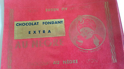 lot 2 emballages plaquettes,  CHOCOLAT  le negre , colonie
