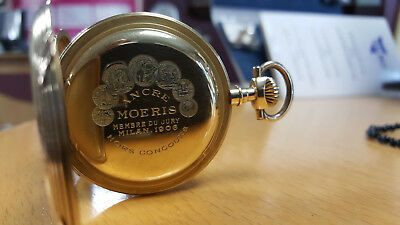 Taschenuhr, Pocketwatch 18K 750 Gold Ancre Moeris Milan 1906
