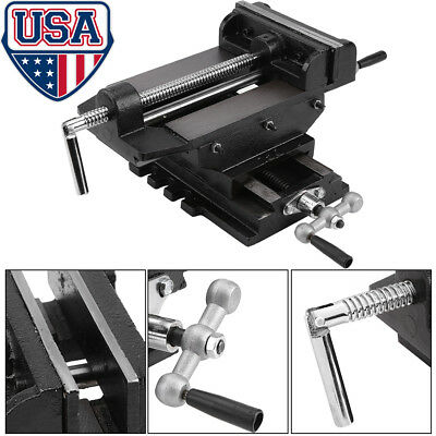6 inches Cross Drill Press Vise Slide Metal Milling 2 Way X-Y Clamp Machine US