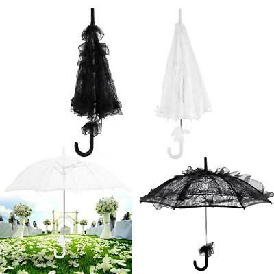 Vintage Lady Handmade Parasol Lace Sun Umbrella Bridal Wedding Photography Prop