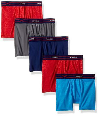Hanes Big Boys' X-Temp Performance Cool Boxer Brief 5-Pack