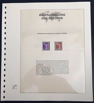 GB UK Isle of Man Regional stamps from waste paper Weltsammlung der Rekorde MNH