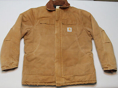 Vintage Carhartt Mens jacket Canvas quilt lined  44 large Tall Union made USA