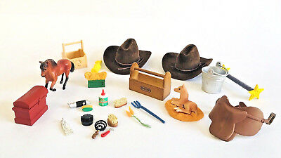 Breyer Mini Horse, Foal And Grooming Kit Horse Toy Accessories Plus More LOT