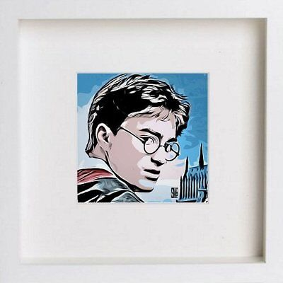 Harry Potter Daniel Radcliff Framed Watercolour Print Wall Home Decor Box Art 84