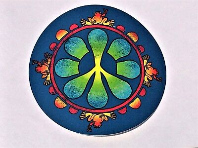 """Peace Frogs Peace Flower Frog Sticker - 5"""" x 5"""" -High Quality Vinyl -Made in USA"""