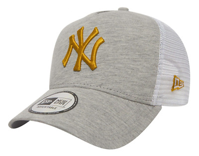 New Era Adjustable A Frame Trucker. New York Yankees. Light Grey/gold