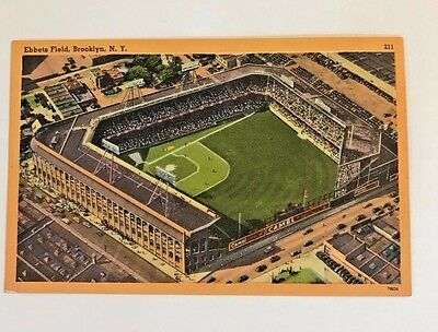 Vintage 1950's Ebbets Field Brooklyn Ny Postcards