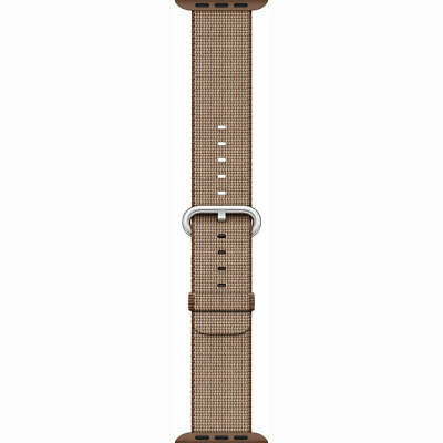 Genuine Apple Woven Nylon for Apple Watch 38mm Toasted Coffee/Carmel - VG No Box