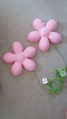 Ikea smila blomma pink flower wall light lamp childrens 285 ikea smila blomma pink flower wall light aloadofball Images