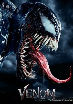 "Venom Movie Poster Tom Hardy Marvel Comics Art Film Print 24x36"" 27x40"" 32x48"""