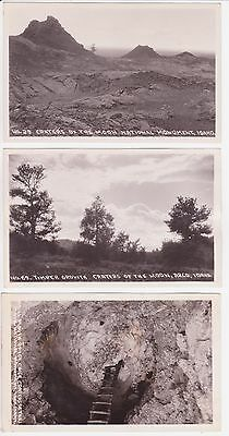 Antique Post Card Lot of 3 Idaho Craters of the moon