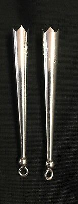 """ONE pair NEW .925 Sterling Silver BOLO LOOP TIPS bola tie tips 2.25/"""""""