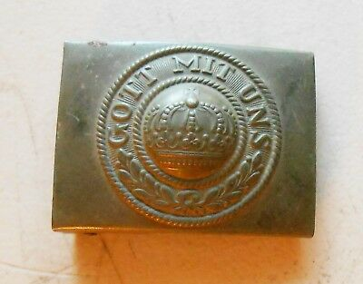 Original WW1 German Army Belt Buckle In Very Good Condition