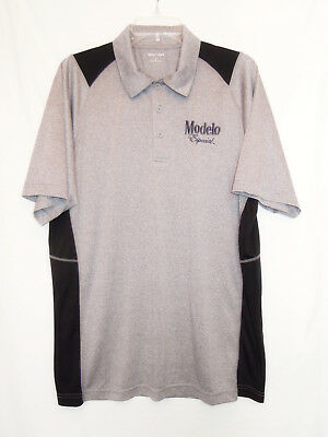 Golf Polo Shirt by Modelo Especial Beer Lightweight Gray Men's L