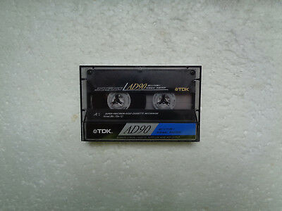 Vintage Audio Cassette TDK AD 90 From 1990 - Excellent Condition !