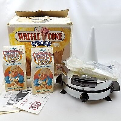 Vtg Toastmaster 295 Waffle Ice Cream Cone Maker Shoppe Stainless Steel Appliance