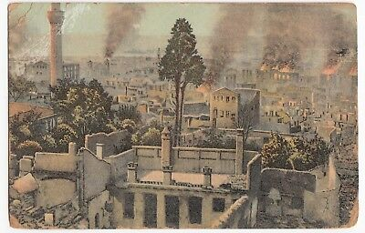 Greece; Salonica, Burned Part Of The High Town PPC, 1918 PMK, OAS, Censor 371