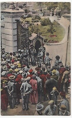 Greece; Salonica, 1st Day Of Martial Law, Soldiers At Seat Of Gov. PPC, 1918 OAS