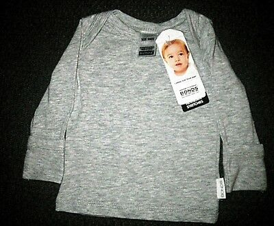 Bonds Baby Fold Over Cuff sleeve Long Sleeve T Shirt - Cover tiny hands Stretchi