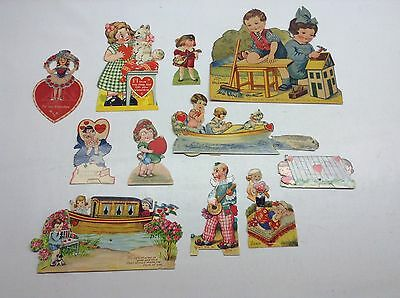Vintage Lot Of 11 Mechanical Valentines Day Cards Germany