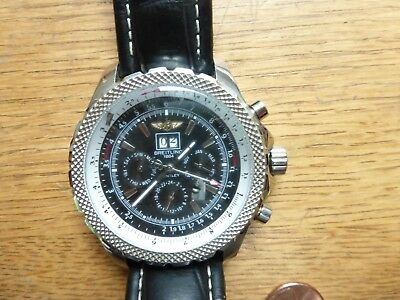 Used Pre Owned Breitling 1884 Bentley Mens Wristwatch Day Month Seconds