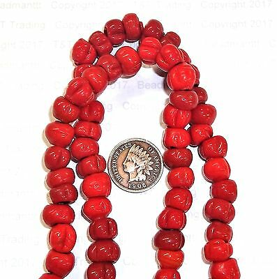 RED  { 50 }  [ BERRY ]  Antique Native American Trade     Trading Post Beads
