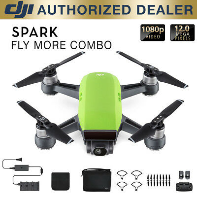 DJI Spark Fly More Combo Quadcopter Drone - Meadow Green
