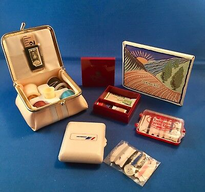 SEWING KITS, Lot of 6, Air France, Majesty Cruise, Christmas Farm Inn VINTAGE